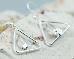 Cute crystal terminated   earth Design earrings  BR  2707