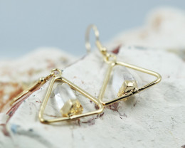 Cute crystal terminated   earth G/P Design earrings  BR  2711