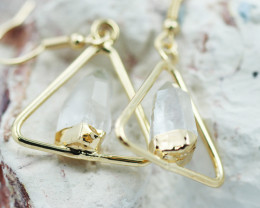 Cute crystal terminated   earth G/P Design earrings  BR  2712