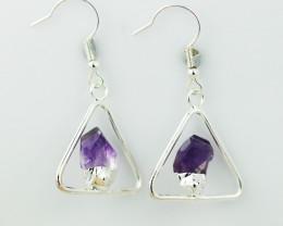 Cute Amethyst  terminated   earth  Design earrings  BR  2715