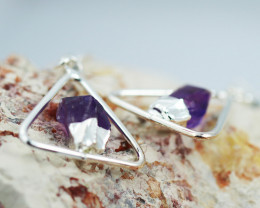 Cute Amethyst  terminated   earth  Design earrings  BR  2716