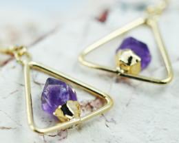 Cute Amethyst  terminated   earthG/P   Design earrings  BR  2719