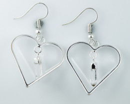 Cute Crystal  terminated  Heart     Design earrings  BR  2733