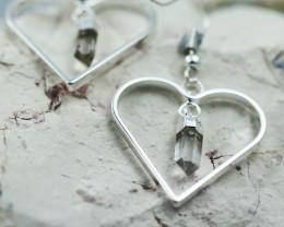 Cute Crystal  terminated  Heart     Design earrings  BR  2734