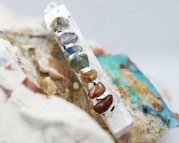 Charka 7 stone  Selenite Pendant   BR2745