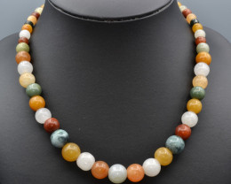 Natural Multi Color Stones Beads Necklace