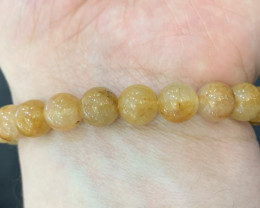 Natural Golden Rutile Quartz Bracelet