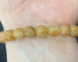 Natural Golden Rutile Quartz Bracelet