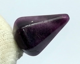 28.45 Carats Natural Purple Amethyst Pear Shape Stainless Steel Pendant