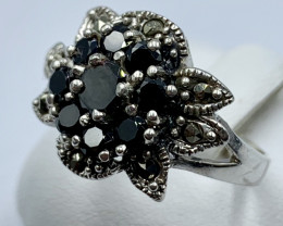 NATURAL SAPPHIRE SILVER RING CLASSIC JEWELLERY AR3