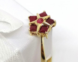 Ruby Ring 0.40 TCW in 10kt. Gold