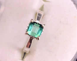 Beautiful Indocolite Color Tourmaline Ring