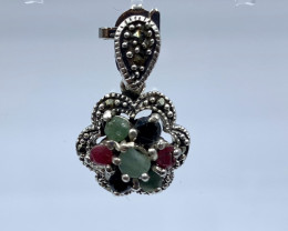 RUBY EMERALD SAPPHIRE PENDENT CLASSIC DESIGN AR 26