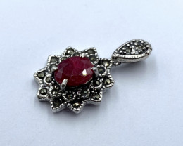 NATURAL RUBY  PENDENT CLASSIC DESIGN AR29