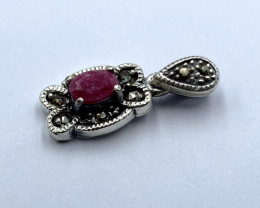 NATURAL RUBY PENDENT CLASSIC DESIGN AR 30