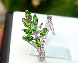 Amazing Natural chrome diopside Ring.