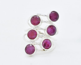 RUBY RING 925 STERLING SILVER NATURAL GEMSTONE JR428