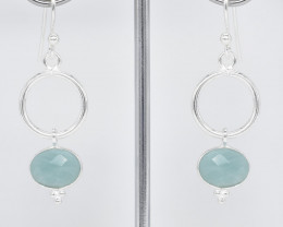 AMAZONITE EARRINGS 925 STERLING SILVER NATURAL GEMSTONE JE354