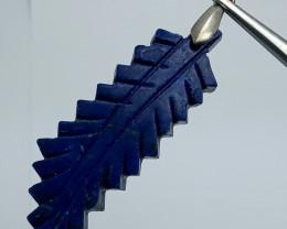 Natural Blue Lapis Lazuli Leaf Shape Pendant 61.40 Carats