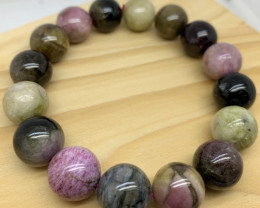 Multi Colour Natural Tourmaile Bracelet
