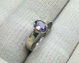 Natural Purple Amethyst 8.70 Carats 925 Silver Ring
