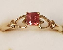 certified ring-orange Umba Valley sapphire