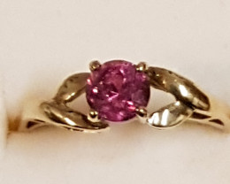 certified ring-vivid red Umba valley sapphire ring