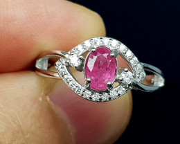 15.25 CT RUBY 925 SILVER AMAZING RING JI10