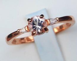 Natural Morganite Ring.