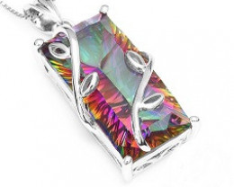 Huge 15.88ct Genuine Natural Fire Rainbow Mystic Topaz Pendant