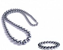 Natural Terahertz Stone Necklace & Bracelet
