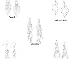 Set of 5 - 925 Sterling Silver Earrings