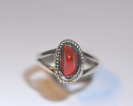 5.5SZ BRILLIANT WELO OPAL STERLING RING