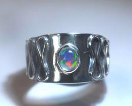 5.2sz Blazing Welo Solid Opal Ring