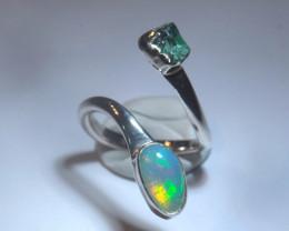6.5-8sz Blazing Welo Solid Opal Ring