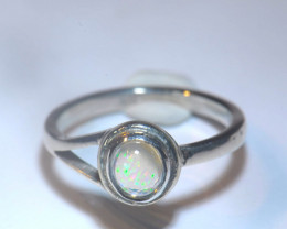 5.7sz Mexican Matrix Cantera Multicoloured Fire Opal Ring