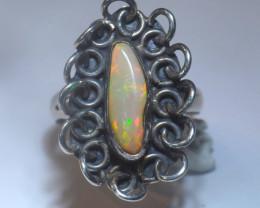 5.7sz Blazing Welo Solid Opal Ring