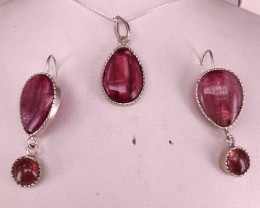 Natural Earrings and Pendant