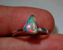 Blazing Welo Solid Opal Ring