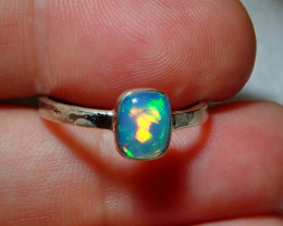 7.7ct Blazing Welo Solid Opal Ring