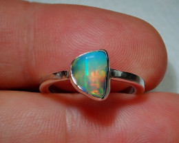 4.7ct Blazing Welo Solid Opal Ring