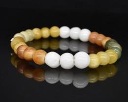 92.20 CT Jade Multi Color Natural Gemstone Genuine Bracelet K46