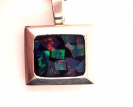 Australian Mosaic Opal Silver Pendant OPJ  2907