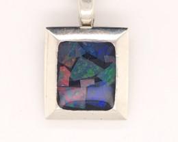 Australian Mosaic Opal Silver Pendant OPJ 2908