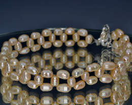 Natural Fresh Water Pearls Bracelet (Hand Made)