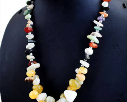 Genuine 315.00 Cts Mix Gem Beads Necklace