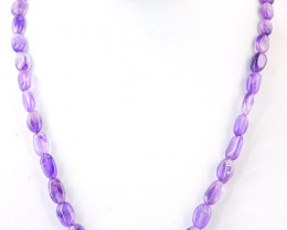 105.00 Cts Amethyst Beads Necklace