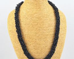 Faceted Black Spinel Necklace
