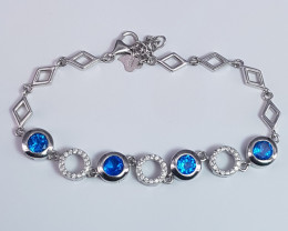 New Design Swiss Blue Topaz Bracelet