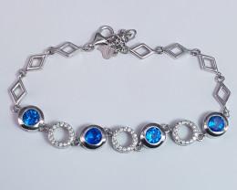New Design Swiss Blue Topaz Bracelet
